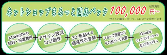ネットショップまるっと開店パック 初期費用 100,000円~